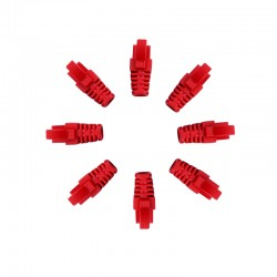 RJ45 Sheath Red 100 Pack
