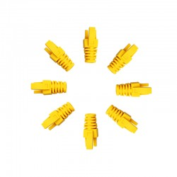 RJ45 Sheath Yellow 100 Pack