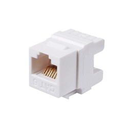 Cat6 Unshielded Module White